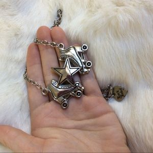 Hot Topic Jewelry - Roller Skates Rock Rebel Metal Star Necklace